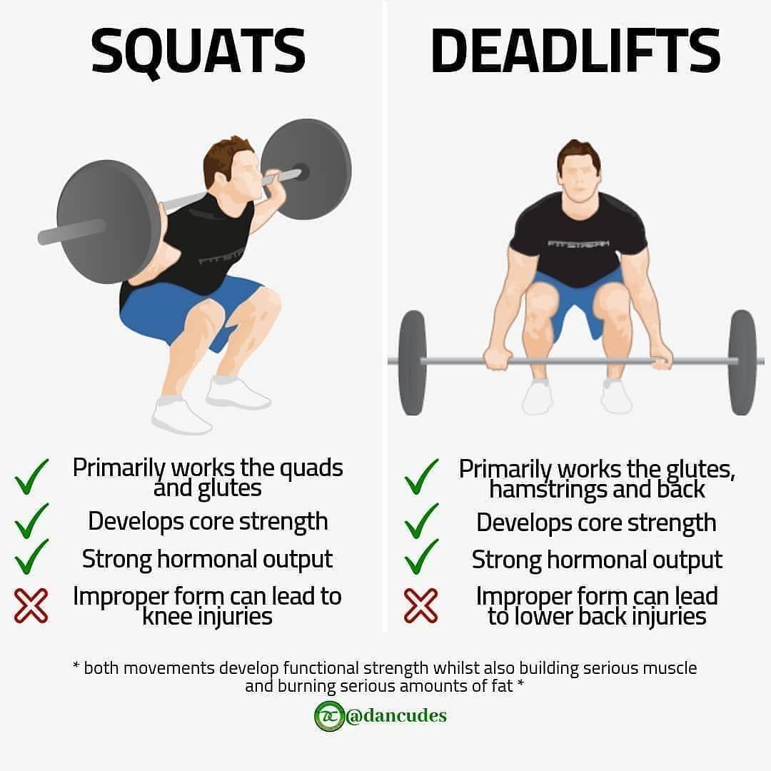 squat deadlift burn fat